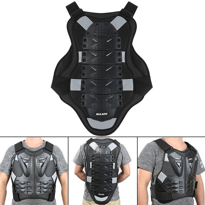 Hot Racing Moto Motorcross Body Armor Retour Spine Équipement de protection Veste Moto pour le corps Moto santé protect Black Armor L XL