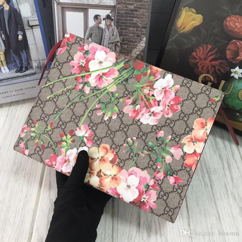 Para mujer de época embrague Bolsas Monedero flor de las muchachas Grab Grab bolso del monedero de lujo monedero clásico de las señoras del bolso del monedero