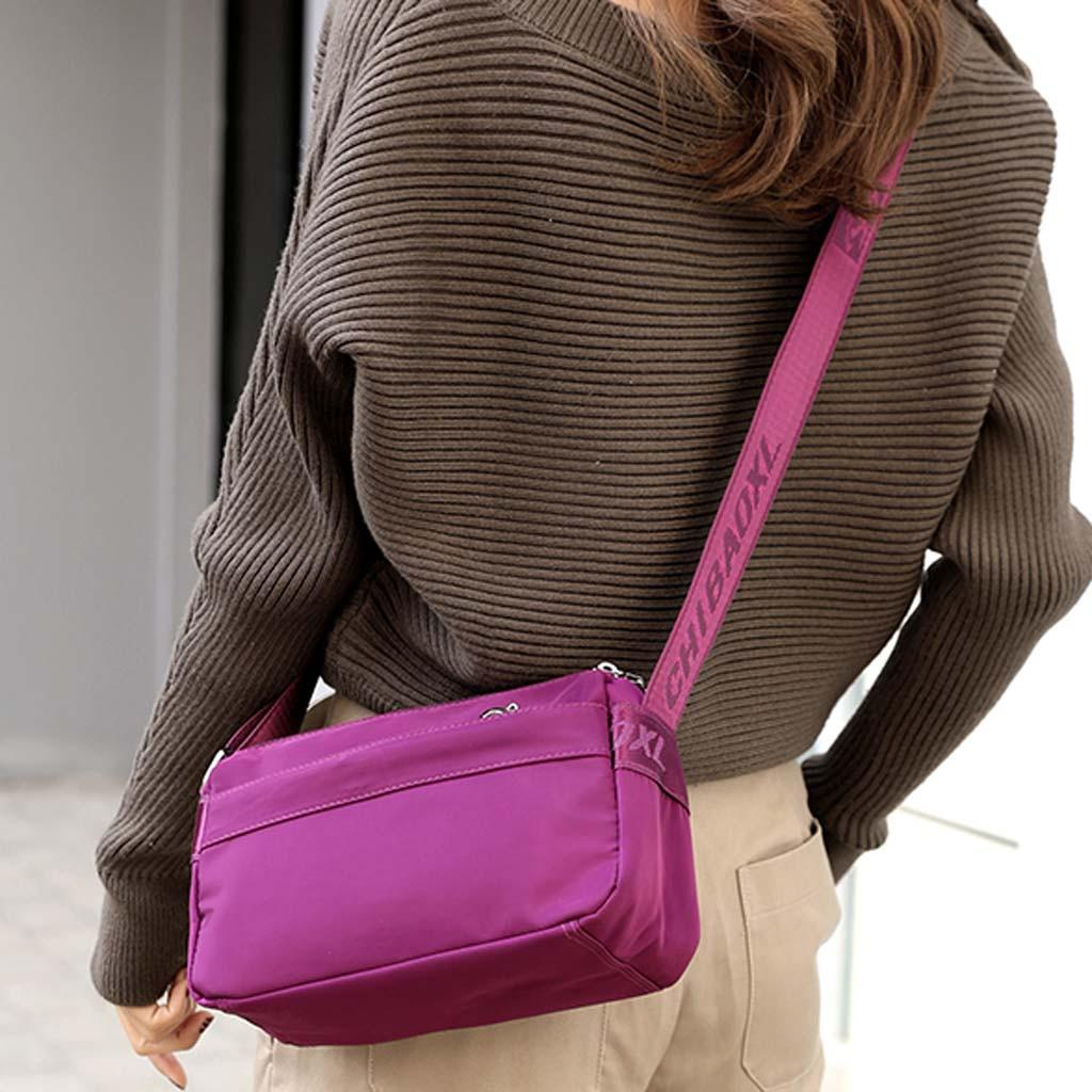 Bolso de hombro de mensajero de nylon casual de moda para mujer Bolsos cruzados impermeables de alta calidad para dama # 35