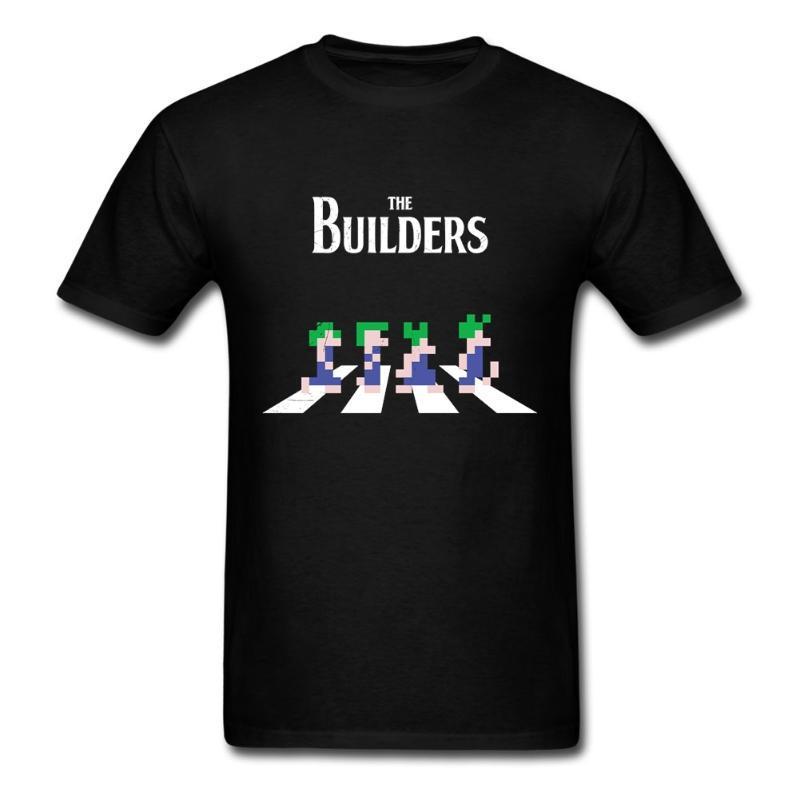 Lemmings Erkekler Tişörtlü Müzikal Siyah Giyim İçin Mens Of Genç Guy Komik Tişörtler Gömlek Maker Yol Müthiş Doğal Pamuk Tişört