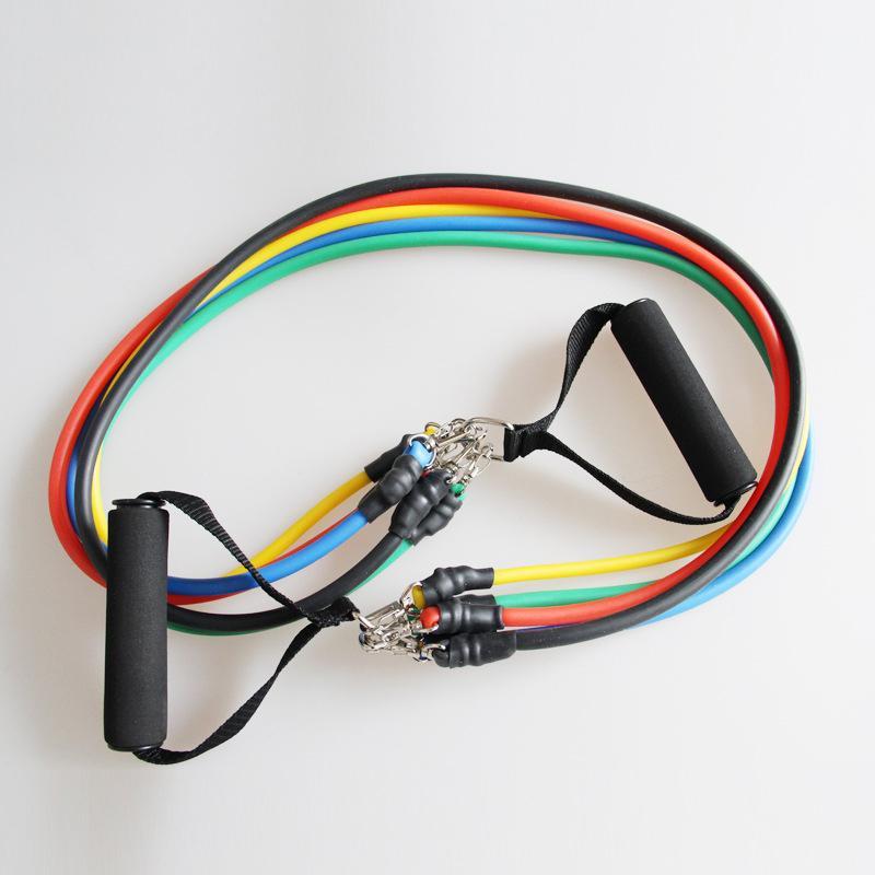 I nuovi 11 pc / insieme attrezzature fitness allenamento fasce di resistenza del lattice Esercizio Pilates Tubi fune espansori Elastic Body Building