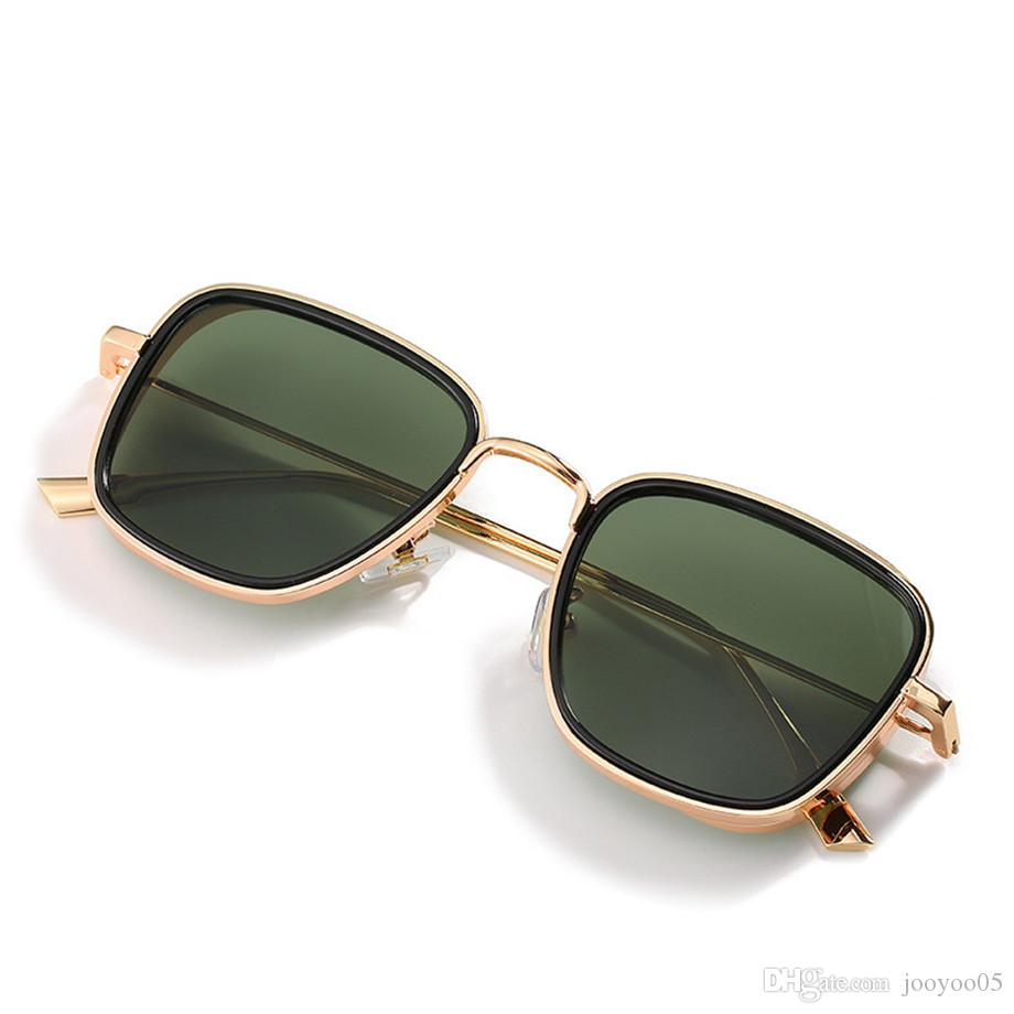 Metal Square Personality Retro Small Frame Sunglasses High Quality Indian Glasses Steampunk Glasses Thickness Men's Sunglasses Uv400