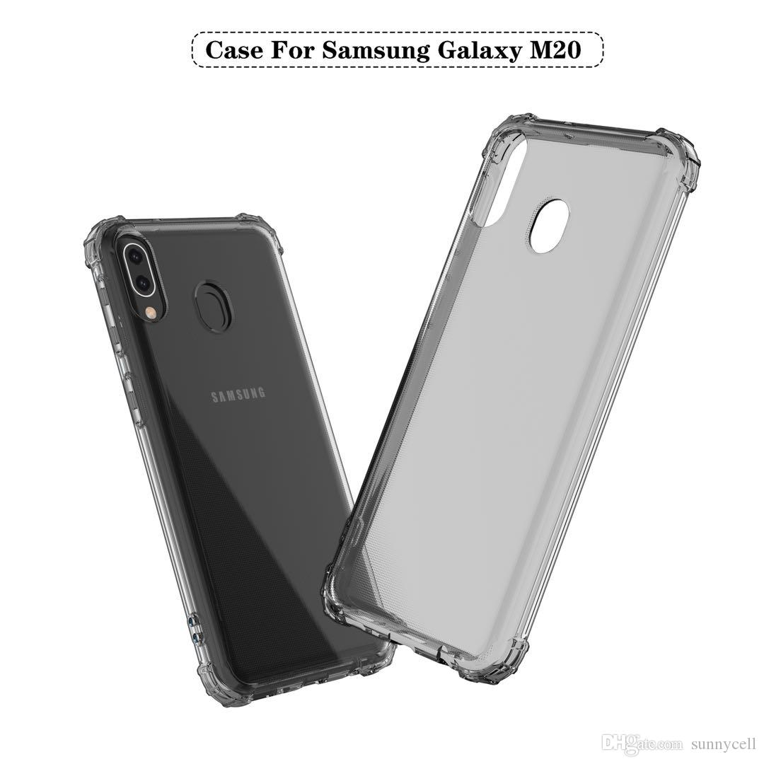 На складе Для Samsung A7 A6S A8S A9 Plus 2018 G530 A750 Прозрачный ТПУ Anti Fall Corner Амортизирующий защитный чехол