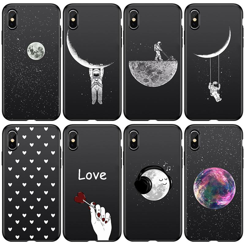 Wholesale Black Painted Cover Shell Cell Phone Cases For Iphone 11 Case 11pro Max Xs Xsmax X 8 7 6s Case Shell