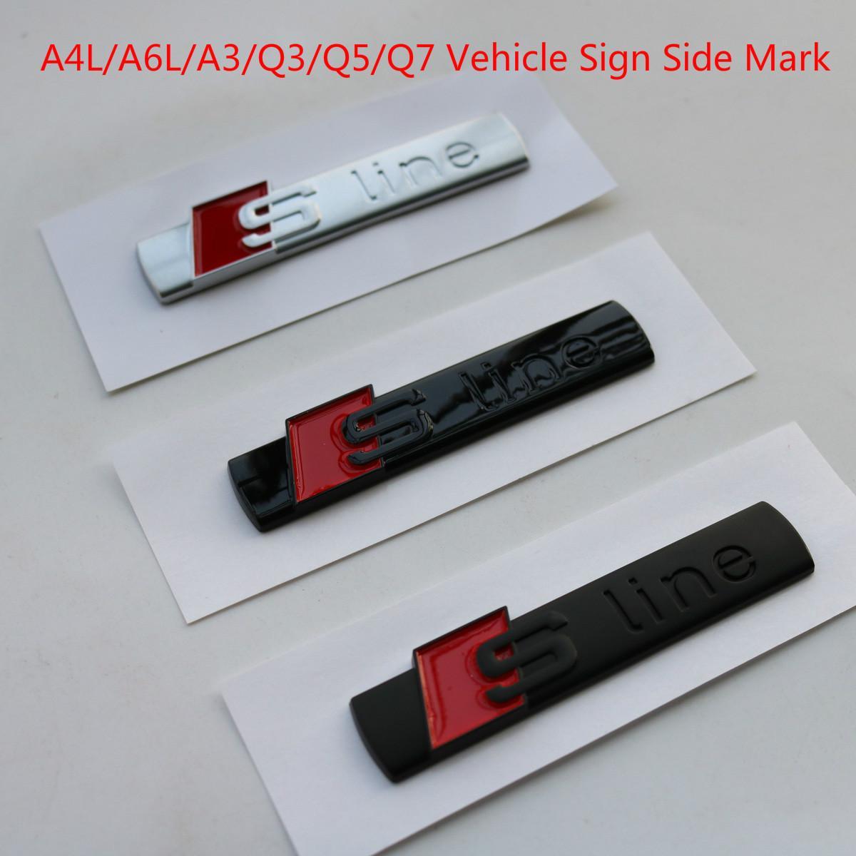 Audi A4L A6L A3 Q3 Q5 Q7 feuille Sline modifiée voiture standard carte côté autocollants standards autocollants de voiture de sport de voiture