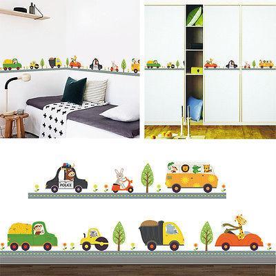 Acheter Stickers Muraux En Vinyle Art Animalier De Voiture Pour Enfants  Chambre Enfants Garçon Chambre Stickers Muraux Décor Ensemble De $4.46 Du  ...