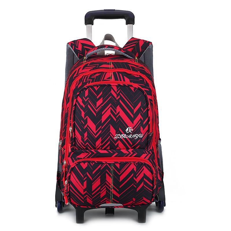 waterproof Trolley backpack boys Girls children School Bag Wheels Travel bag Luggage backpack kids Rolling detachable schoolbags
