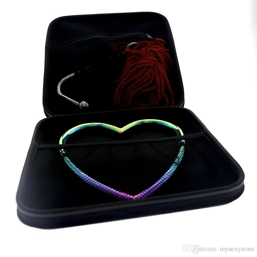 2019 NUOVO MKS04-5 arcobaleno anello shibari Disegno speciale di acciaio chirurgico bondage gear shibari anello privato stampaggio per coppia