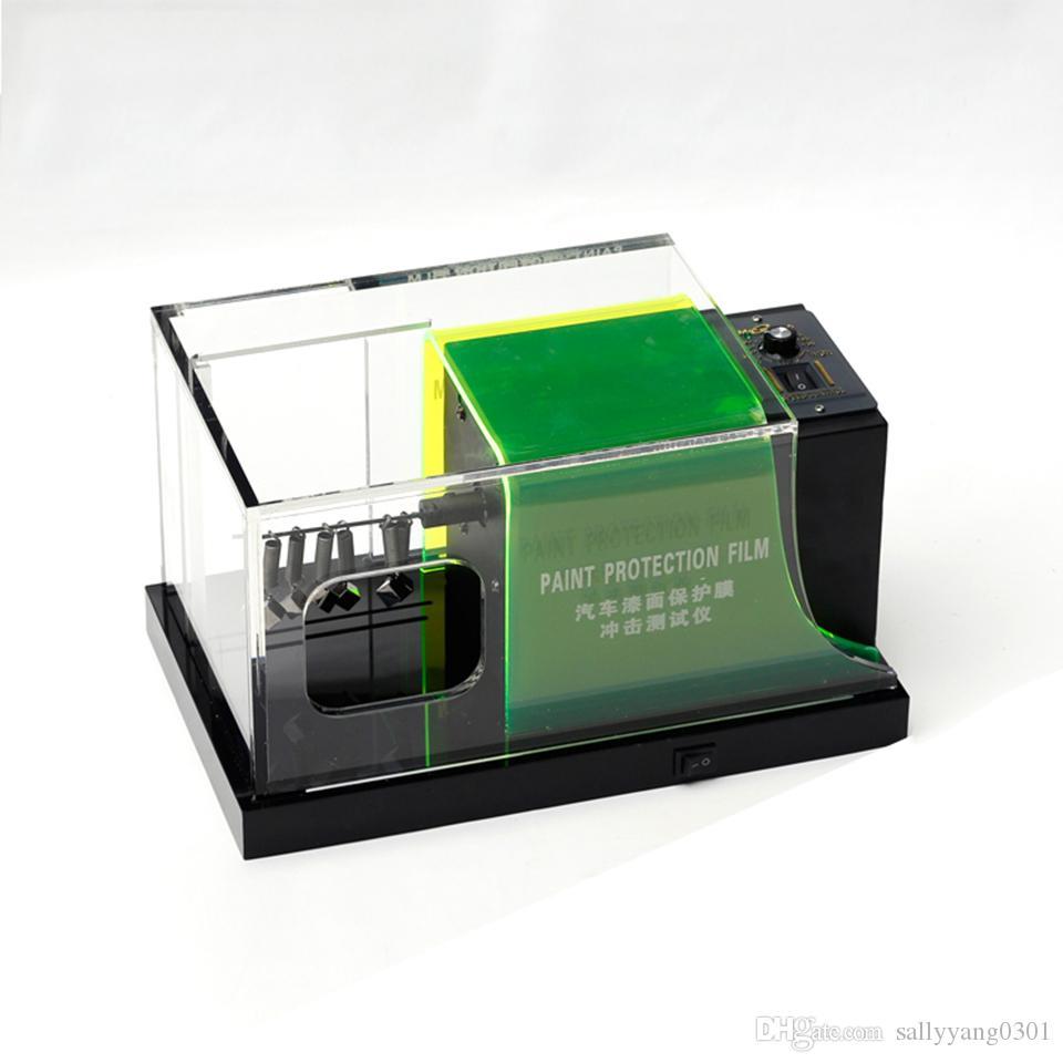 Verdes TPU PPF Films Rasca y pruebas de pintura de alta calidad del coche Película de protección Gravelómetro prueba de la máquina MO-620