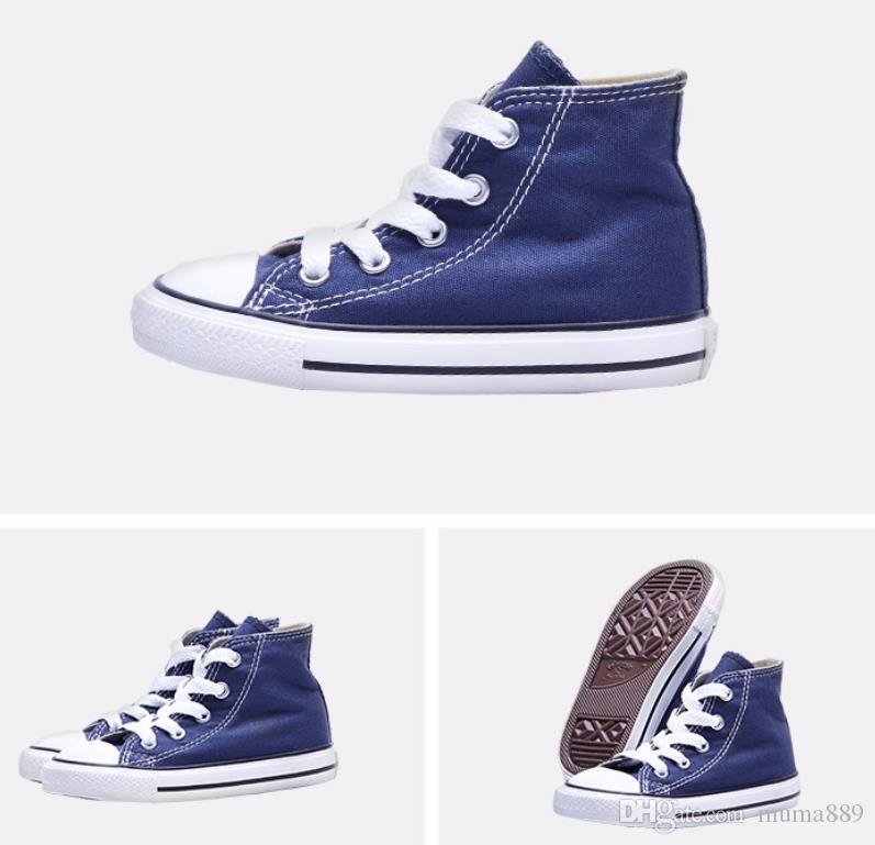 1970 обувь Детская обувь Flat High Top Классические повседневные ботинки малышей