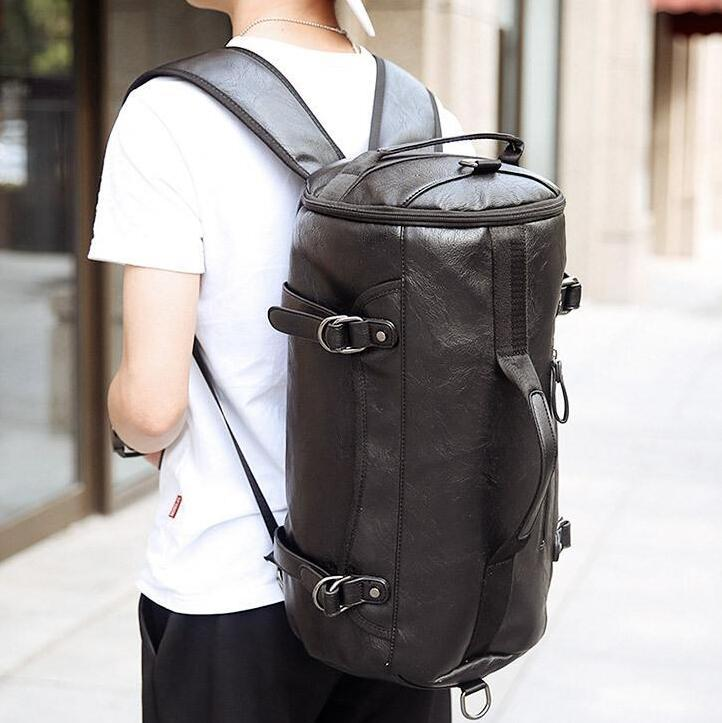 Werksverkauf Marke Tasche Koreanische Version der neuen großen Kapazität von Männern Casual Fashion Basketball Rucksack Umhängetasche Tasche Persönlichkeit
