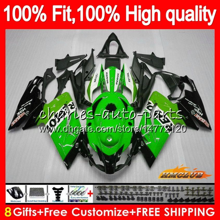 Injection For Aprilia RS4 Repsol green RS 125 R RSV125 RS125R RS-125 69HC.86 RS125 06 07 08 09 10 11 2006 2007 2008 2009 2010 2011 Fairings