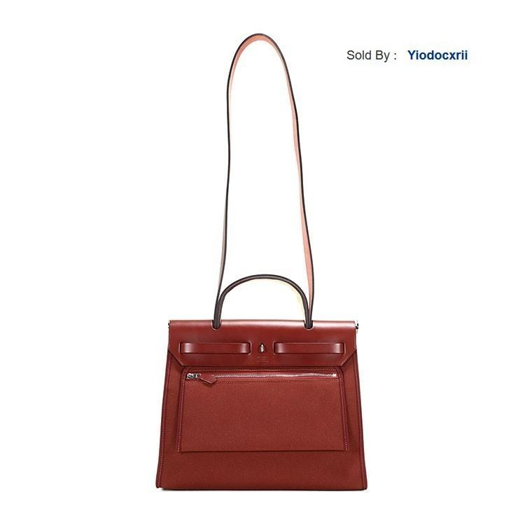 yiodocxrii 4TVL Pomegranate Red Canvas/with Leather Bag Herbag31 Totes Handbags Shoulder Bags Backpacks Wallets Purse