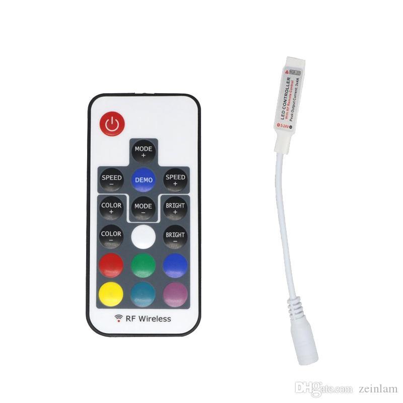 RVB RF Remote Contrôleur DC5-24V 17 Touches Contrôleur de télécommande pour SMD 5050 SMD 2835 LED STANCHE 4 Épingles