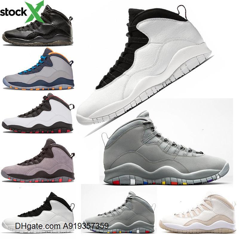 Ciment 10 Jordon 10s chaussures de basket-ball Jumpman 23 chaussures trop cool iam dos gris formateurs triple homme femmes noires chaussures taille 7-13