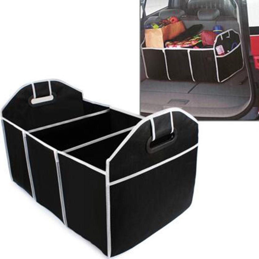 box pour coffre de voiture Sac pour coffre de voiture en polyester /à fond stable box pliante Boite de rangement pliante box pour accesoires de voiture.