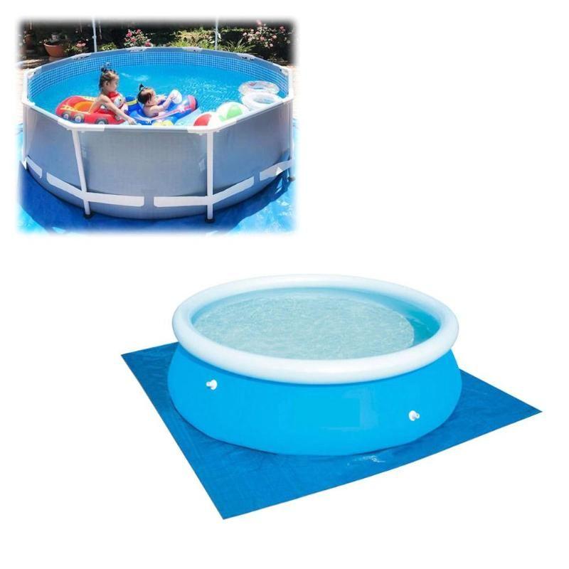 Aufblasbare Schwimmbeckenabdeckung Stoff Mat Verschleißfest Pool Mat PVC-Staubschutz Eindickung faltbare Bodentuch