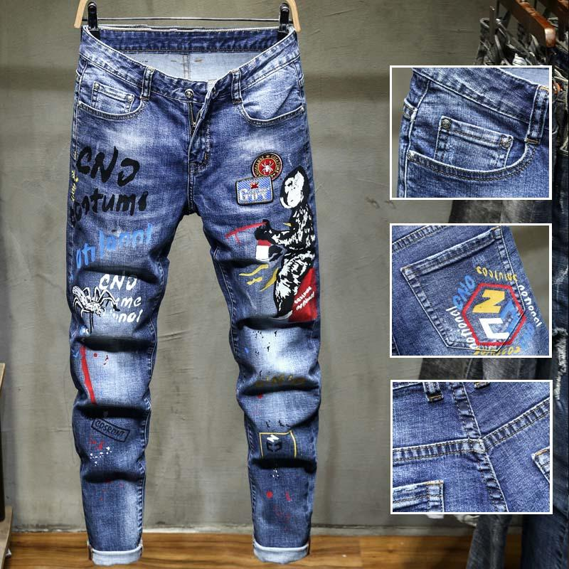 2021 2020 Fashion Vintage Mens Ripped Jeans Pants Slim Fit Distressed Hip Hop Denim Cool Male Novelty Streetwear Jean Trousers From Jeans158 25 39 Dhgate Com