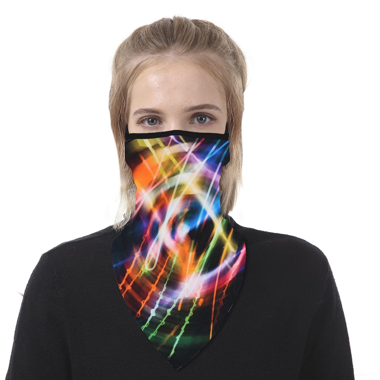25EZH Kadınlar Eşarp Yüz Yarım Fonksiyonlu 13 Stiller İpek şifon Mendil Açık Windproof Yüz Toz geçirmez Güneşlik Maskeler Maske