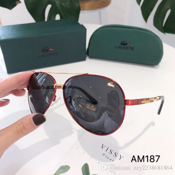 악어 유리 렌즈 Polit 고급 선글라스 Carfia UV 400 선글라스 남성 디자이너 선글라스 빈티지 금속 스포츠 태양 안경 위트