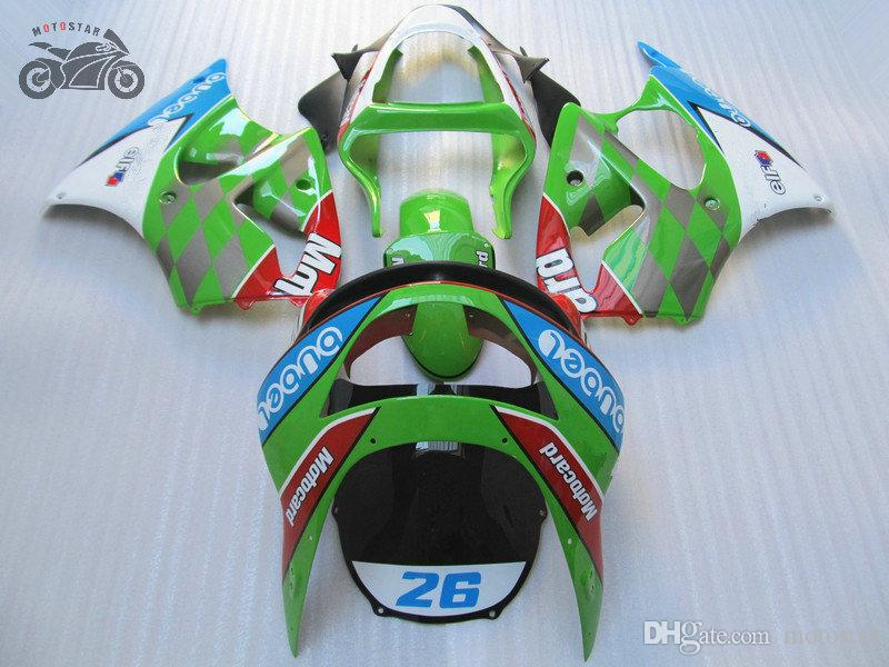 Customize your motorcycle Fairings for Kawasaki Ninja ZX6R ZX-6R 1998 1999 higgh quality aftermarket Chinese fairings set ZX 6R 98 99