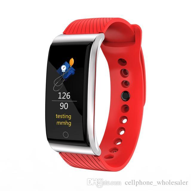 F4 Smart-Armband-Blutdruck-Puls-Monitor-Smart-Uhr-wasserdichte Bluetooth Pedometer Sport-Armbanduhr für iPhone iOS Android Phone