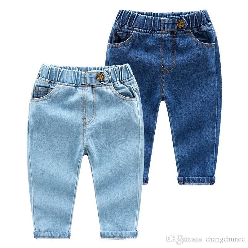 2019 Fashion Kids Jeans para niños / niñas 2 colores estilo Fashion Denim Pants Algodón Pantalones para niños