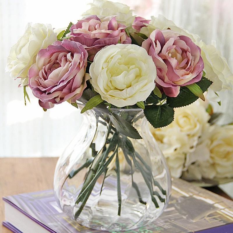 Rtificial Partido DIY Flor, Rosa, Decoración de seda vintage la boda de Rose Line Up falso Flores Festival de Suministros Decoración Ramo