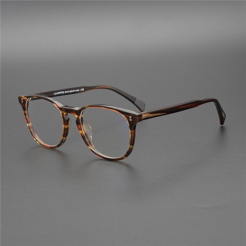 OV5298 Miyop Okuma Cam Çerçeve Erkek / Bayan Finley Av. Retro Gözlükler çerçeve oculos de grau feminino Yuvarlak Optik Cam T200428