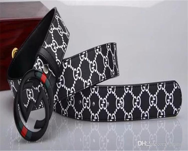 2020, modo di alta qualità reale Leathe rL Smooth Cinture Buckle cinghie degli uomini di disegno più nuovo stile di alta marca cinture libera il trasporto 45