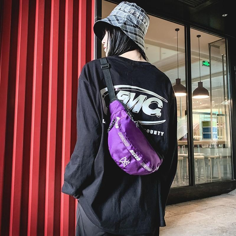 Trend del pacchetto della vita degli uomini 2020 donne della cinghia del torace sacchetto del telefono casuale sacchetto di nylon unisex del pacchetto Borsello Hip Hop Boy Borse a tracolla