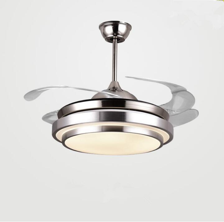 Modern Soffitto Fan Lights Lampade Telecomando Ventilador De Techo Ventilateur Plafond Sans Lumiere Lighting Sala da pranzo Letto