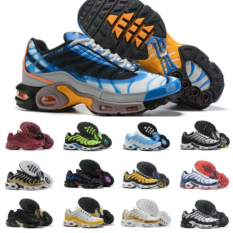 2020 nueva TN Plus SE zapatos para correr para hombre para hombre blanco negro rojo azul gafas 3D Hyper retroceso futuro entrenador de la zapatilla de deporte deportes de la moda