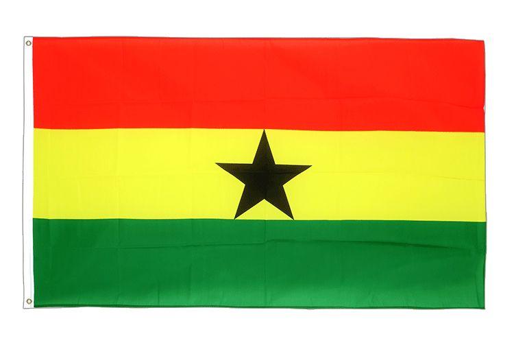 Großhandelspreis ab Werk 100% Polyester 3 x 5 Ft 90 * 150 cm gha gh Die Flagge der Republik Ghana für die Dekoration