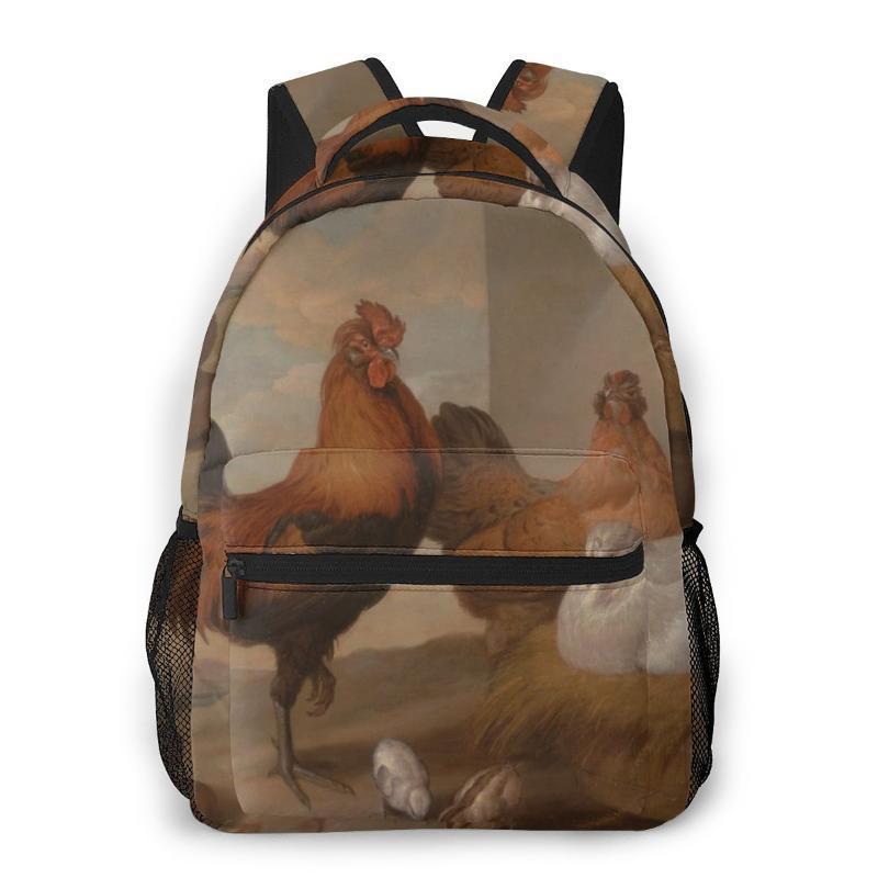 Bolsas mochilas escolares para adolescentes Francis Barlow Pintura óleo sobre tela de viagens Artístico Bolsas Baby Boy Escola Mochilas