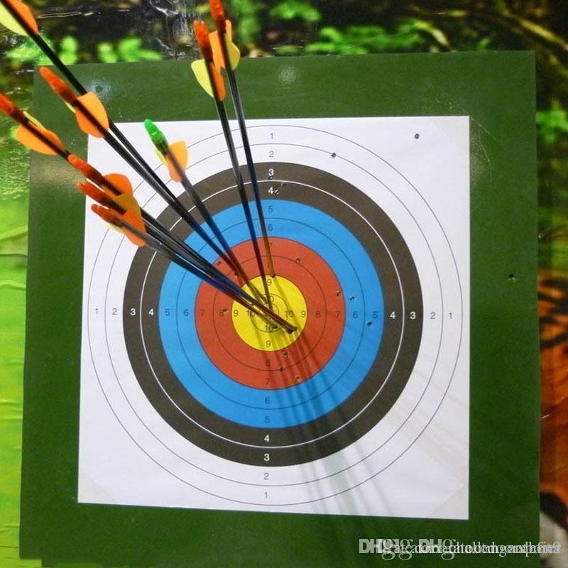 Standard 60x60cm pleine Anneau Tir à l'arc papier cible Bow Flèche Set chasse en plein air chasse formation de tir de papier cible spéciale