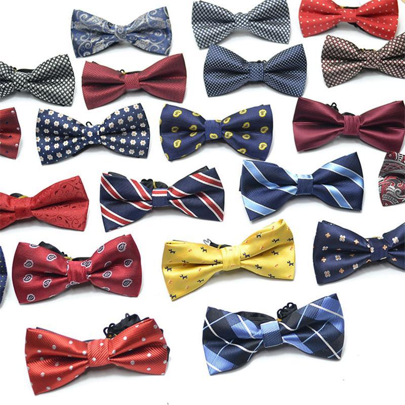 Bow Ties pour hommes d'affaires Jacquard noeuds papillon de soirée de mariage Epoux liens arc groomsman Multicolor Livraison gratuite