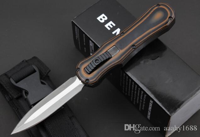 BM 3350 166 Infide bolso de aço knive Preto D2 dois gumes facas táticas Plain equipamento de sobrevivência com caixa de varejo D / A 3300