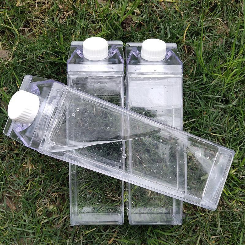 Küchen Leakproof Kreative Transparent Milch-Wasser-Flasche Trinkgefäße Outdoor-Klettertour Camping Kinder Männer Milch Wasserflaschen