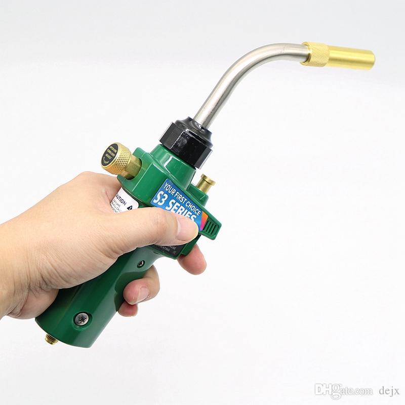 Freeshipping Braze Saldatura Torcia Mappatura Propano Gas Torch Autoaccensione W Trigger Style Cga600 Riscaldamento Bruciatore a saldare
