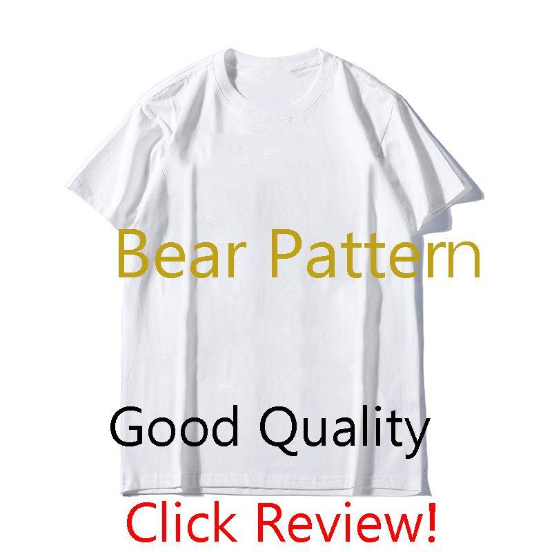 MS Erkek Tasarımcı T Gömlek Lüks Ayı Desen Tees Moda Erkek Baskı Kısa Kollu 2020 Yaz Trendy Kadın T-Shirt 2 Renkler Toptan