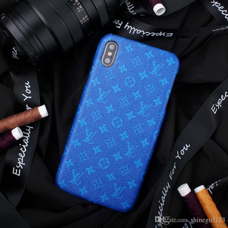 Klassische Luxus PU-Leder-Entwerfer-Telefon-Kästen für IPhone X XS MAX XR 6S 6 7 8 Plus schützen Shell-Mobiltelefon-Kasten-rückseitige Abdeckung