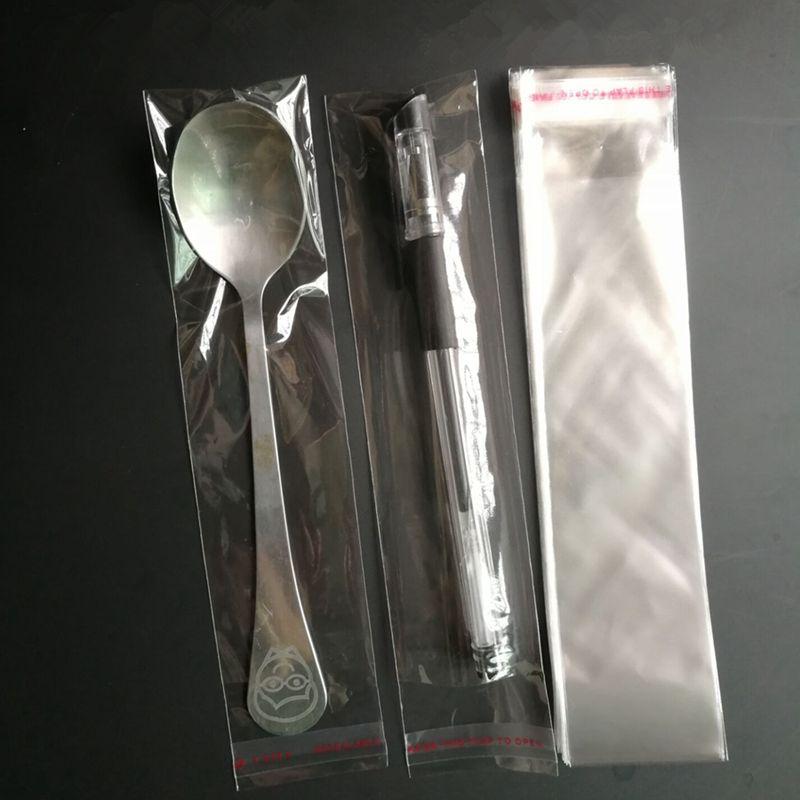 500pcs 6 * 29cm de largo Claro Empaquetado de la joyería bolsa de plástico de OPP Paquete bolso del calcetín poli regalo Slender bolsa