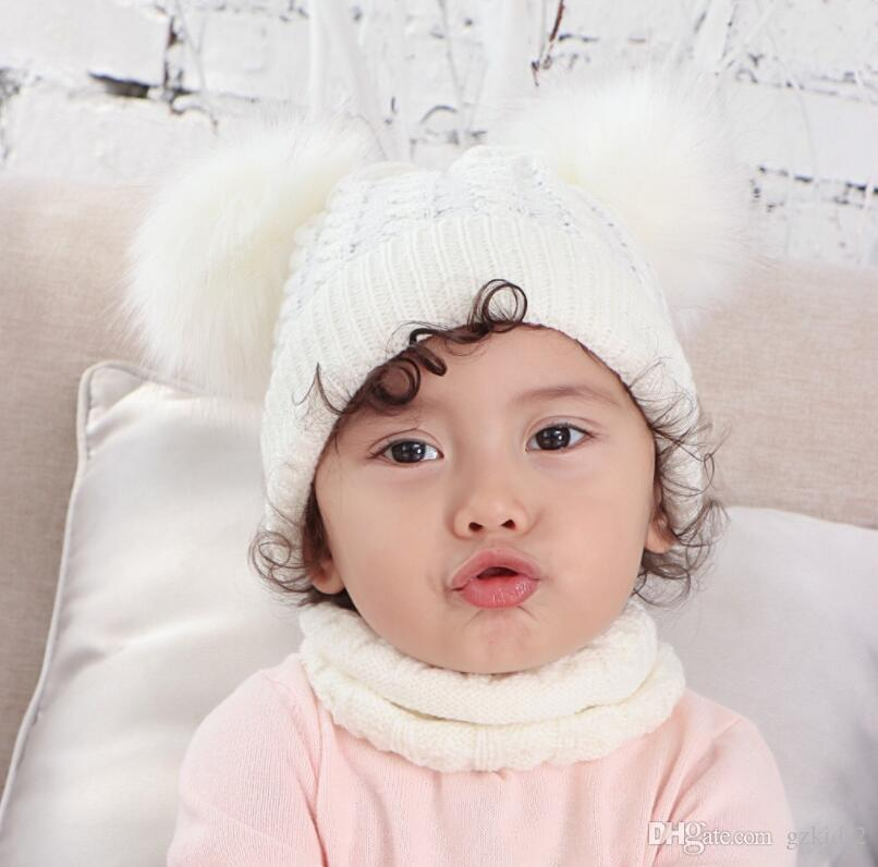 Cute Knitted Boys Girls Christmas Beanie Warm Earflap Winter Hat Infant Toddler Baby Beanie 0-2Y free shipping