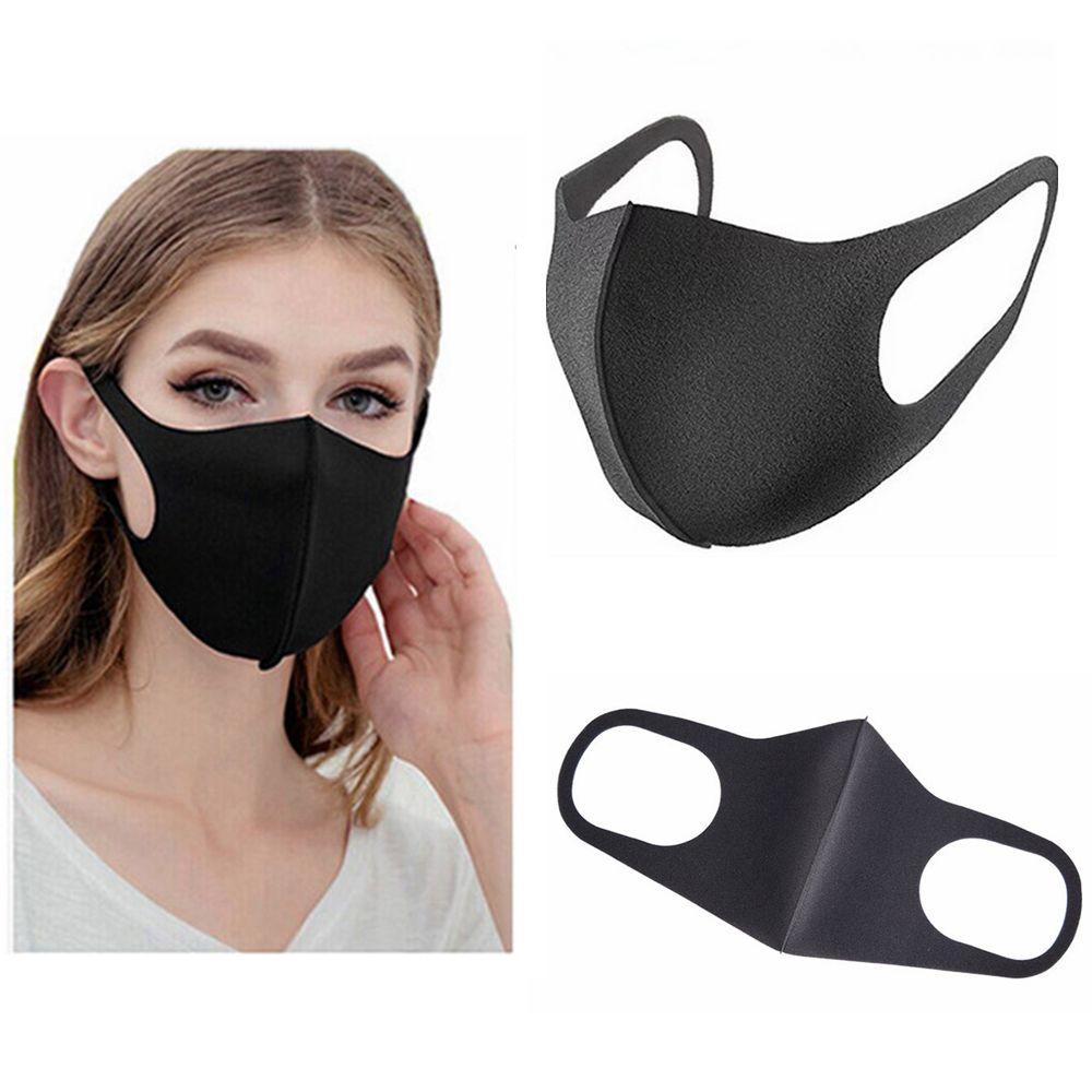 Maschera purificante dell'aria Nero Nebbia Bocca filtro maschere antipolvere lavabile traspirante goccioline unisex Impedire FFA3814 diffusione