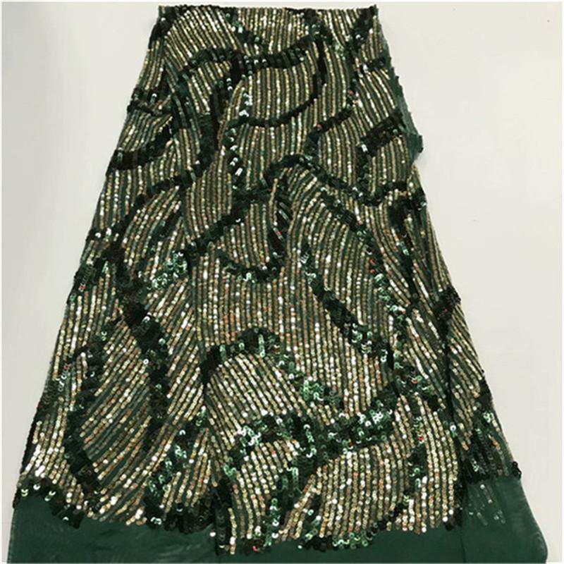 2019 последние золото и зеленый французский африканский кружевной ткани королевский синий с блестками высокого качества африканский тюль кружевной ткани для свадьбы