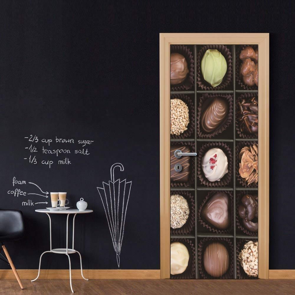 Wholesales DIY Door Sticker Delicious Chocolate Door Decal for Bedroom Living Room wallpapers Decal home accessories