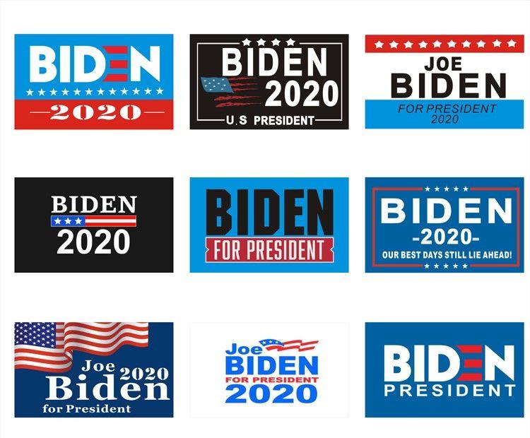 9 types 150 * 90cm Biden Drapeau Bernie Sanders Biden Andrew Yang Bannière Keep America Great Encore une fois Polyester Décor bannière pour 2020 Président USA