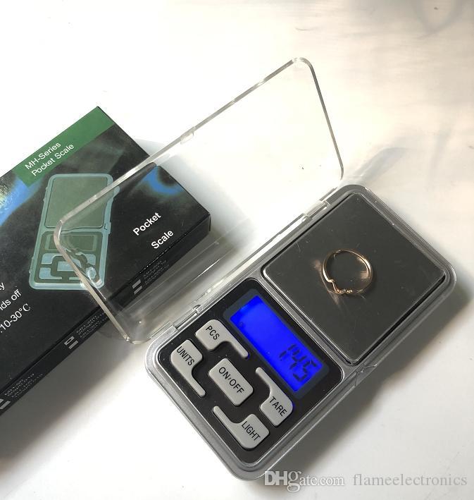 السوبر ميني كهربائية والكترونية الجيب مقياس الوزن 200G 0.01g 500G 0.1G عرض مجوهرات الماس LCD مقياس مقياس التوازن مع حزمة البيع بالتجزئة