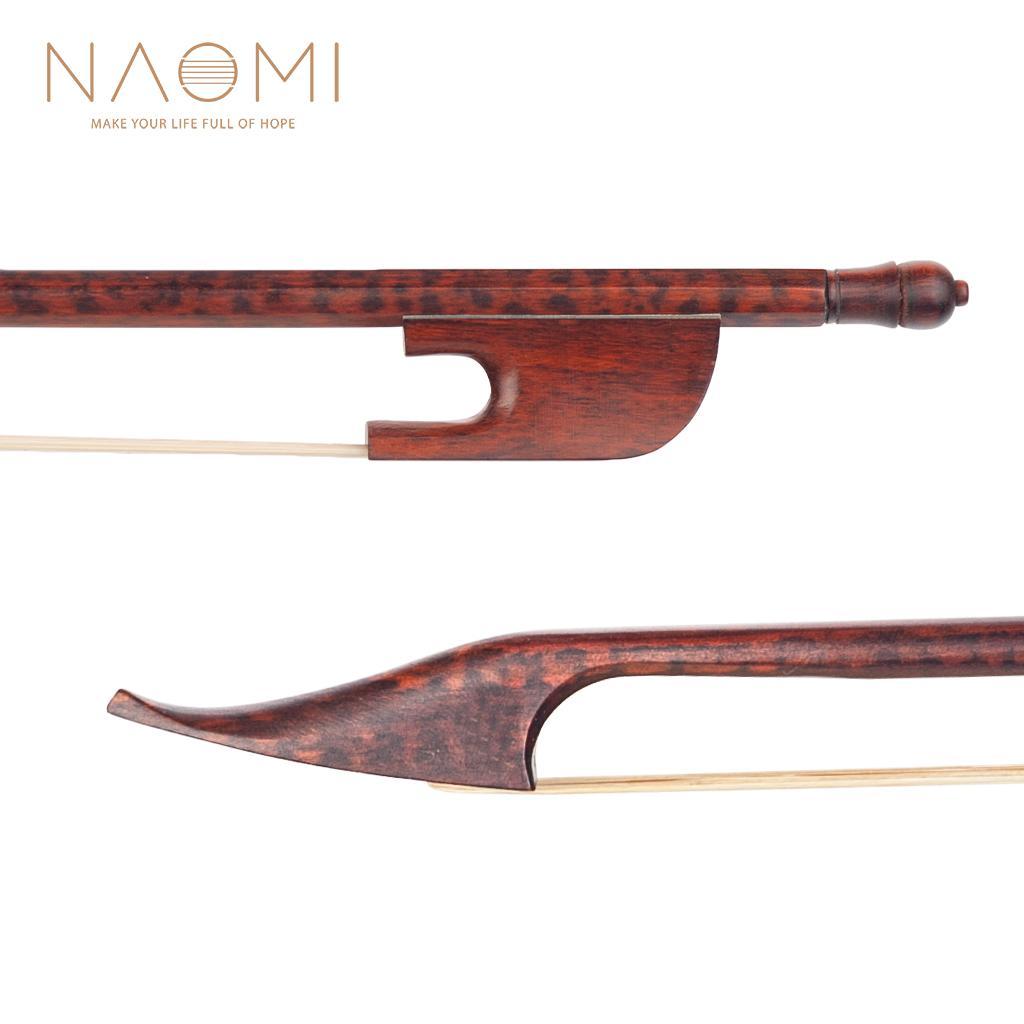 NAOMI Violin Bow 4/4 Snakewood barroco Bow Snakewood Sapo End para 4/4 Violin Parts Acessórios Novo